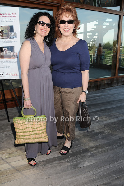 Actress Susie Essman and TV talk show host  Joy Behar<br /> photo by Rob Rich © 2010 robwayne1@aol.com 516-676-3939