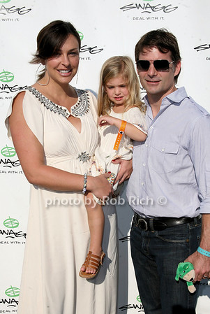Ingrid Vandebosch, Ella Sofia Gordon, Jeff Gordon photo by Jakes for Rob Rich © 2010 robwayne1@aol.com 516-676-3939