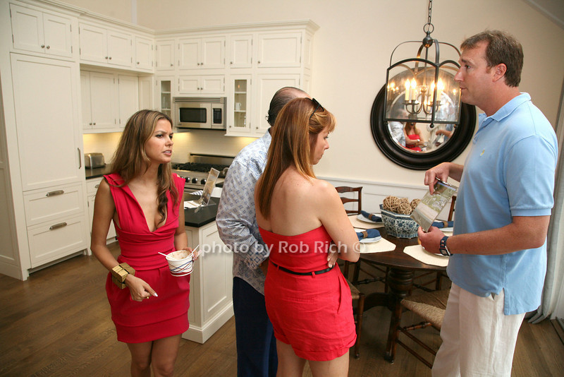 Adam Manson, Indrani, Bobby Zarin, Jill Zarin, on tour of properties.