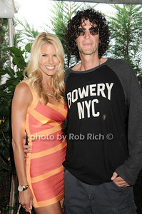 Beth Ostrosky, Howard Stern at the Hamptons Magazine Cover Party for Beth Ostosky at Savannah Restaurant in Southampton on July 9, 2010. photo by Rob Rich/SocietyAllure.com