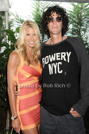 Beth Ostrosky, Howard Stern<br /> at the Hamptons Magazine Cover Party for Beth Ostosky at Savannah Restaurant in Southampton on July 9, 2010.<br /> photo by Rob Rich/SocietyAllure.com