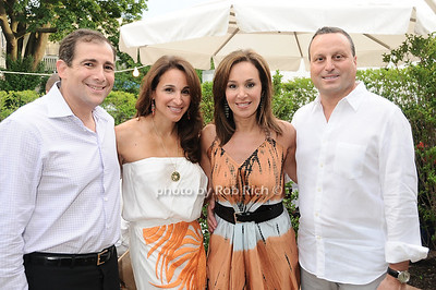 Arthur Backal, Elaina Scotto, Rosanna Scotto, Lou Scotto at the Hamptons Magazine Cover Party for Beth Ostosky at Savannah Restaurant in Southampton on July 9, 2010. photo by Rob Rich/SocietyAllure.com