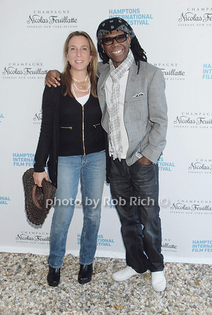 """Sue Cohn Rockefeller, Nile Rodgers attend  the """"Chairman's Reception"""" at the private residence of Stuart Match Suna in Easthampton during the Hamptons International Film Festival on September 9, 2010.photo by Rob Rich/SocietyAllure.com"""