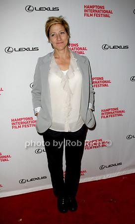 "Edie Falco attends the HIFF movie screening of ""3 Backyards"" at the UA Cinema in East Hampton on October 10, 2010. photo by Jakes van der Watt/SocietyAllure.com"