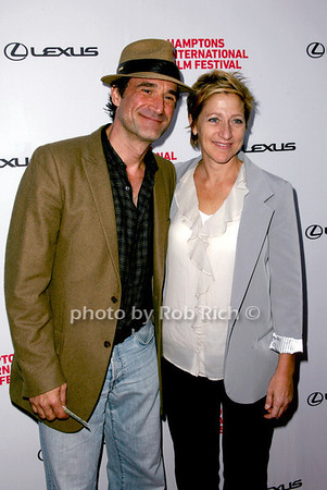 "Elias Koteas and Edie Falco attends the HIFF movie screening of ""3 Backyards"" at the UA Cinema in East Hampton on October 10, 2010. photo by Jakes van der Watt/SocietyAllure.com"