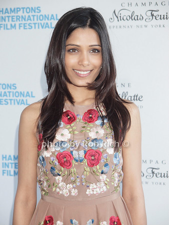 """Frieda Pinto attends the """"Chairman's Reception"""" at the private residence of Stuart Match Suna in Easthampton during the Hamptons International Film Festival on September 9, 2010.photo by Rob Rich/SocietyAllure.com"""