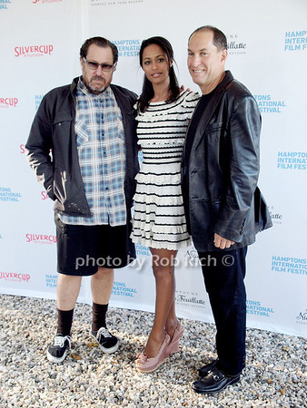 """Julian Schnabel, Rula Jebreal, Stuart Match Suna attend  the """"Chairman's Reception"""" at the private residence of Stuart Match Suna in Easthampton during the Hamptons International Film Festival on September 9, 2010.photo by Rob Rich/SocietyAllure.com"""