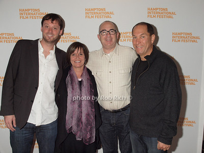 David Nugent, Karen Arikian, Barry Sonnenfeld, Stuart Match Suna at the HIFF Breakthrough Performers Brunch reception at Nick and Tony's in East Hampton on October 10, 2010. photo by Rob Rich/SocietyAllure.com