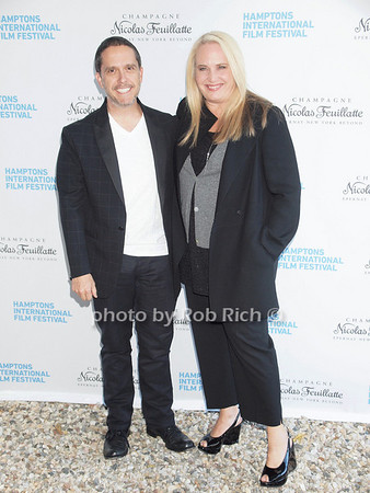 """Lee Unkrich, Darla K. Anderson attend the """"Chairman's Reception"""" at the private residence of Stuart Match Suna in Easthampton during the Hamptons International Film Festival on September 9, 2010.photo by Rob Rich/SocietyAllure.com"""