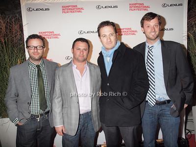 Mark Heyman, Scott Franklin,Darren Aronofsky, David Nugent attends the HIFF screening of Black Swan ar the UA Cinema in East Hampton on September 10, 2010. photo by Rob Rich/SocietyAllure.com