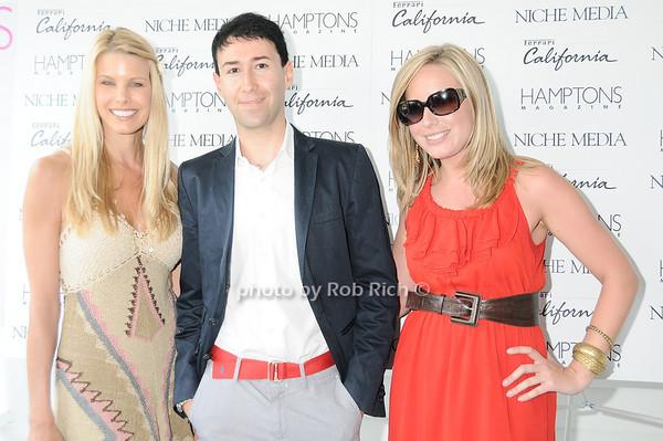 Beth Ostrosky, Matteo Sardi (Ferrari), Laura Fisher (Ferrari)<br /> photo by Rob Rich © 2010 robwayne1@aol.com 516-676-3939