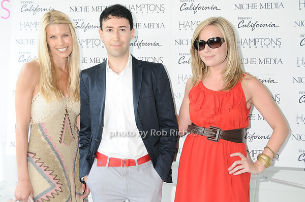 Beth Ostrosky, Matteo Sardi (Ferrari), Laura Fisher (Ferrari)<br /> photo by Rob Rich © 2010 robwayne1@aol.com 516-676-3939