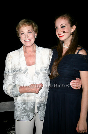 Julie Andrews, Devon Leaver<br /> at  the Motown Live at Club Starlight w/Julie Andrews at the Ross School  in East Hampton on June 19, 2010.