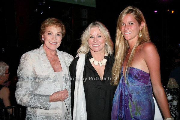 Julie Andrews, Courtney Ross, Nicole Ross<br /> at  the Motown Live at Club Starlight w/Julie Andrews at the Ross School  in East Hampton on June 19, 2010. <br /> photo by Jake for Rob Rich © 2010 robwayne1@aol.com 516-676-3939