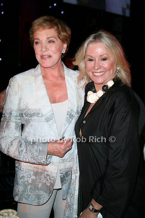 Julie Andrews, Courtney Ross <br /> at  the Motown Live at Club Starlight w/Julie Andrews at the Ross School  in East Hampton on June 19, 2010. <br /> photo by Jake for Rob Rich © 2010 robwayne1@aol.com 516-676-3939