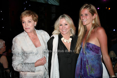 Julie Andrews, Courtney Ross, Nicole Ross at  the Motown Live at Club Starlight w/Julie Andrews at the Ross School  in East Hampton on June 19, 2010.  photo by Jake for Rob Rich © 2010 robwayne1@aol.com 516-676-3939