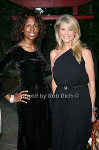 Michelle Travis, Christie Brinkley at  the Motown Live at Club Starlight w/Julie Andrews at the Ross School  in East Hampton on June 19, 2010.  photo by Jake for Rob Rich © 2010 robwayne1@aol.com 516-676-3939