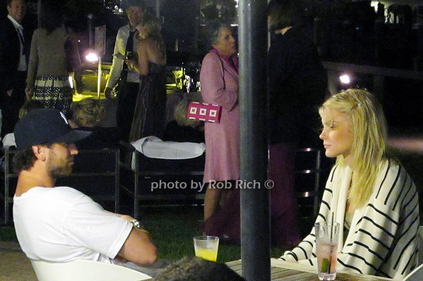 Aaron Varos (NY Ranger) and Model  Jessica Stam at the Barracuda Bar at the Montauk Yacht Club in Montauk on June 19, 2010.