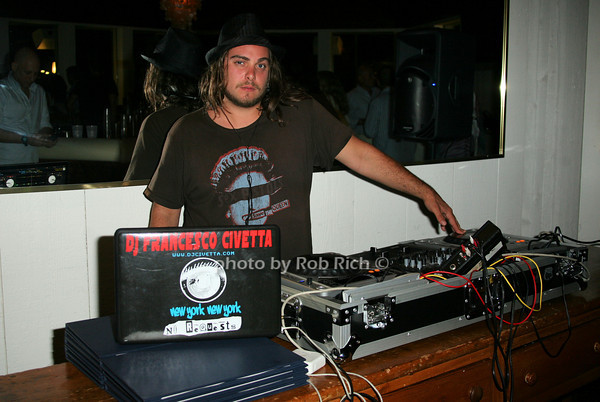 DJ Francesco Civetta<br /> photo by Jakes for Rob Rich © 2010 robwayne1@aol.com 516-676-3939