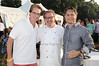 Kyle MacLaughlin, chef Robbin Haas, Jason Binn<br /> attending the annual Hampton's Magazine Clambake at the Montauk Yacht Club in Montauk on July 18,2010. photo by Rob Rich/SocietyAllure.com