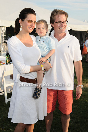 Desiree Gruber, Callum Lyon MacLachlan, Kyle MacLachlan  attending the annual Hampton's Magazine Clambake at the Montauk Yacht Club in Montauk on July 18,2010. photo by Rob Rich/SocietyAllure.com