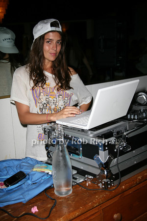 DJ Florencia Galarza<br /> photo by Jakes for Rob Rich  © 2010 robwayne1@aol.com 516-676-3939