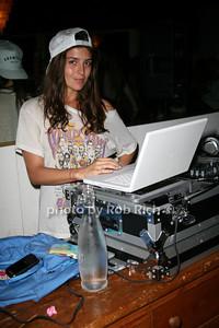 DJ Florencia Galarza photo by Jakes for Rob Rich  © 2010 robwayne1@aol.com 516-676-3939