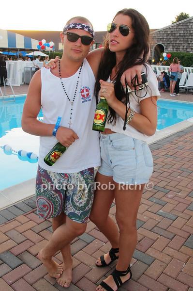 P.J. Monte and Alexandra Delavega