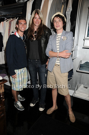 Christain Guerriero, Bradley Irion, Caleb McDonald<br /> at the Blue and Cream store in East Hampton on 6-12-10.