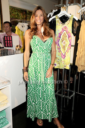 Kelly Bensimon<br /> shows off her new jewelry line at the Blue and Cream store in  East Hampton on June 12, 2010.