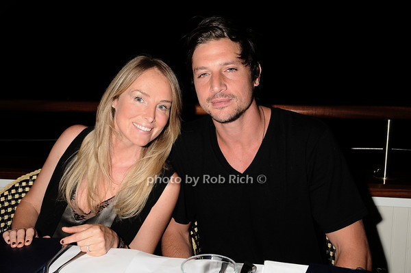 Chynna Phillips, Simon Rex dining at the Boathouse in East Hampton on July 4, 2010. photo by Rob /SocietyAllure.com