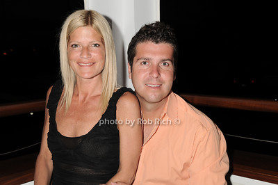 Lizzie Grubman and husband Chris Stein dining at the Boathouse in East Hampton on July 4, 2010. photo by Rob /SocietyAllure.com