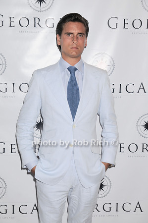 Scott Disick  dining at  Georgica Restaurant and Niteclub,in Wainscott on July 4, 2010