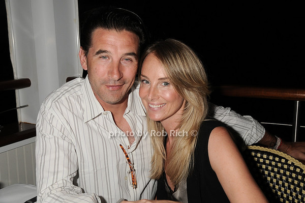 Billy Baldwin and Chynna Phillips  dining  at The Boathouse  in East Hampton  on July 4, 2010