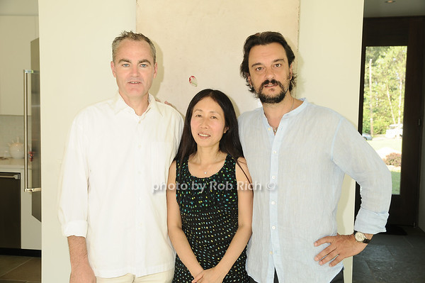 Michael Morris , Yoshiko Sato, Artist Antonio Murado<br /> photo by Rob Rich © 2010 robwayne1@aol.com 516-676-3939