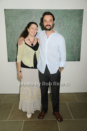 Christina Arias, Artist Antonio Murado<br /> <br /> photo by Rob Rich © 2010 robwayne1@aol.com 516-676-3939
