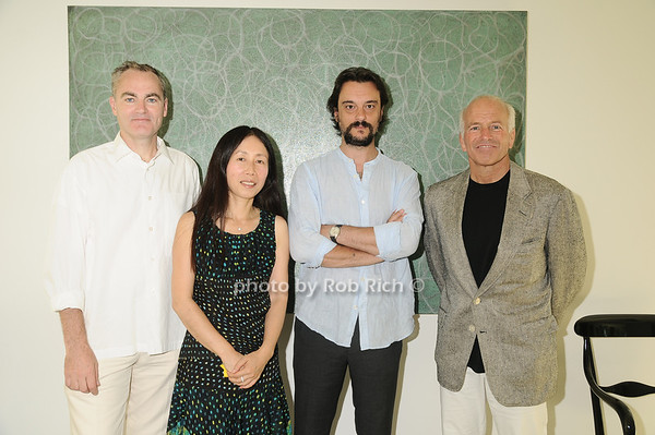 Michael Morris,  Yoshiko Sato ,Artist Antonio Murado, Gary DePersia<br /> photo by Rob Rich © 2010 robwayne1@aol.com 516-676-3939