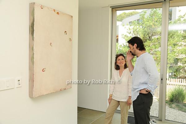 Penelope Moore, Artist Antonio Murado<br /> photo by Rob Rich © 2010 robwayne1@aol.com 516-676-3939