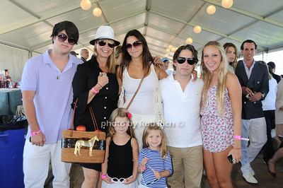 Andrew Warren, Marcy Warren, Lauren Walk, Charlie Walk, guest, kids photo by Rob Rich © 2010 robwayne1@aol.com 516-676-3939