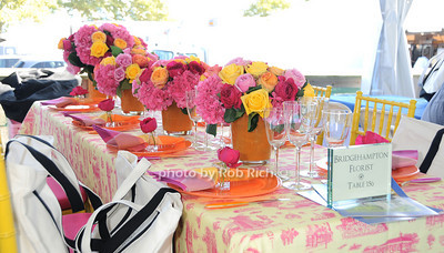 Bridgehampton Florist table