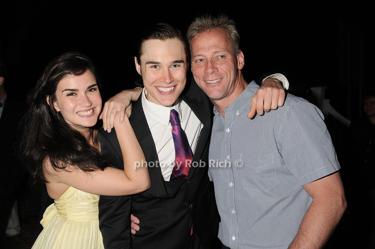 """Georgia Warner, Sam Underwood, Terence Michael McCrossan at  the after party for """"EQUUS"""" @Guild Hall  in East Hampton on June11, 2010."""