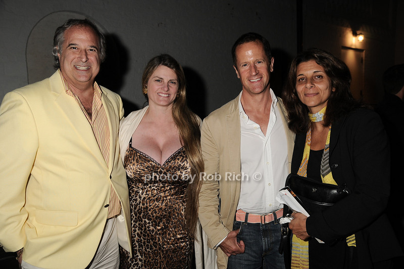 """Stewart Lane, Bonnie Comley, guest, Angela LaGreca at  the after party for """"EQUUS"""" @Guild Hall  in East Hampton on June11, 2010."""
