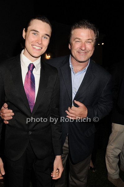 """Sam Underwood and Alec Baldwin<br /> at  the after party for """"EQUUS"""" @Guild Hall  in East Hampton on June11, 2010."""