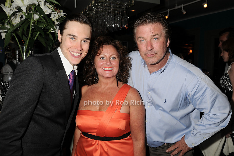 """Sam Underwood, Angela Underwood, Alec Baldwin at  the after party for """"EQUUS"""" @ the Maidstone in East Hampton on June11, 2010."""