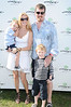 Alex McCord, Simon van Kempen, and kids attend  the Mercedes Benz Polo Challenge at BlueStar Jets field in Bridgehampton on July 31, 2010. photo by Rob Rich/SocietyAllure.com