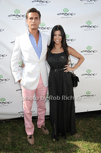 Scott Disick, Kourtney Kardashian at the opening day of Mercedes-Benz Polo Challenge at blue Star Jets Field in Bridgehampton on July 24, 2010.  photo by Rob Rich/SocietyAllure.com