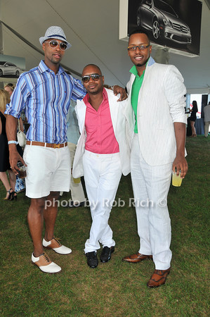 Eric Green, Morocco Assouline, Shaun Thompson<br /> at Week Three of the Mercedes-Benz Polo Challenge at Blue Star Jets Field in Bridgehampton on August 7, 2010. photo by Rob Rich/SocietyAllure.com