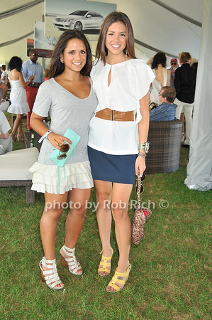 Jen Gioia, Lauren Partridge<br /> at Week Three of the Mercedes-Benz Polo Challenge at Blue Star Jets Field in Bridgehampton on August 7, 2010. photo by Rob Rich/SocietyAllure.com
