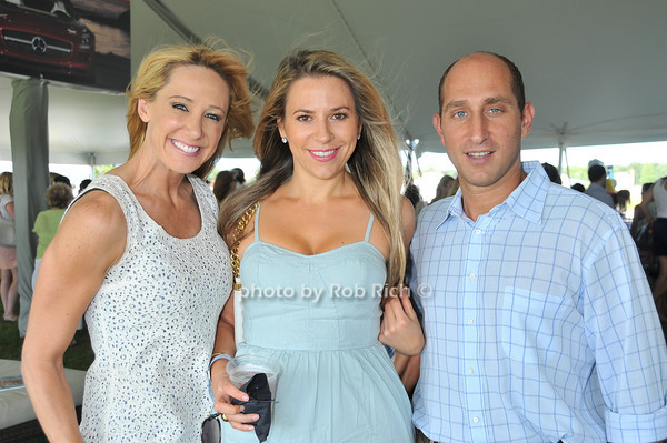 Dina Tavarre, Brooke Milstein, Adam Bailey<br /> at Week Three of the Mercedes-Benz Polo Challenge at Blue Star Jets Field in Bridgehampton on August 7, 2010. photo by Rob Rich/SocietyAllure.com