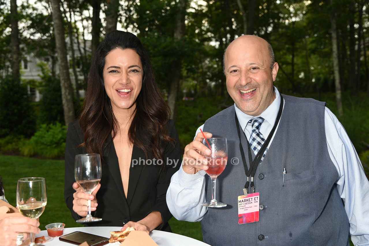 Lorena Sarria and Raphael Avigdor enjoying Snow Leopard vodka